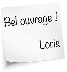 Bel ouvrage ! Loris